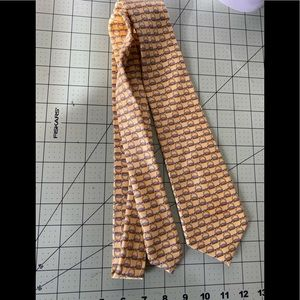 Pink designer silk tie from London